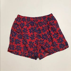 VINTAGE 90s MENS LANDS END SUMMER FLORAL SHORTS L